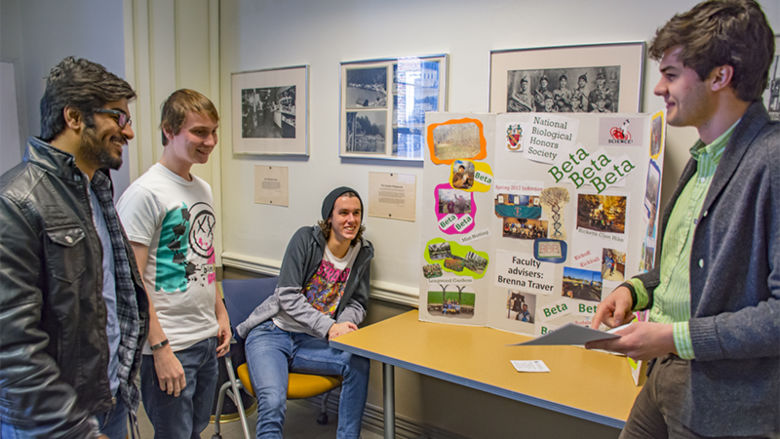 Students recruit others to be members of an academically-based student organization