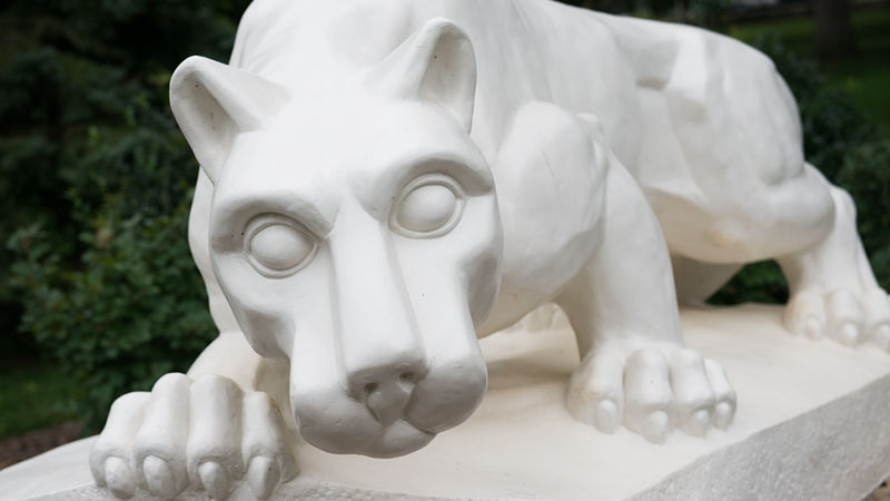 Penn State Schuylkill's Nittany Lion shrine