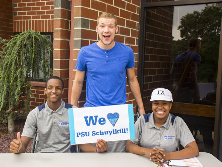 Resident Assistants welcome new students to the Nittany Apartments