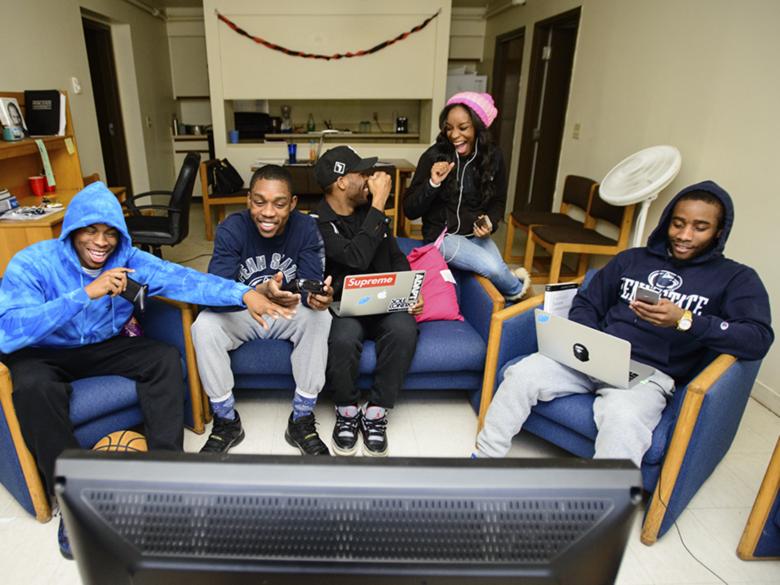 Students in Dorm