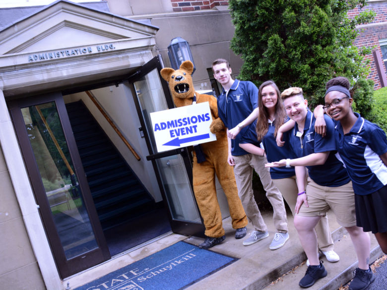 Lion Ambassadors and Lion at Administration Building