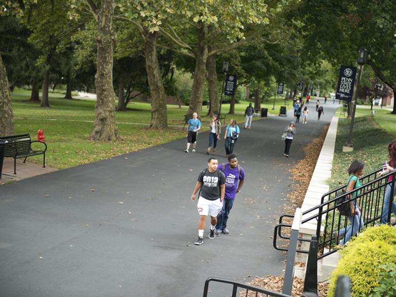 Students on mallwalk