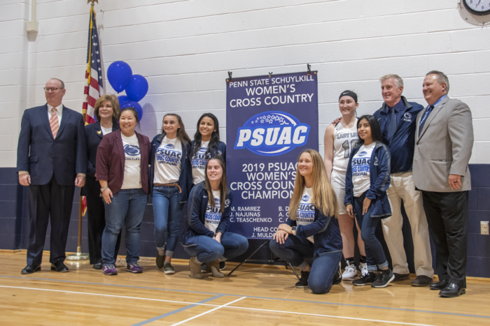 The 2019 PSUAC Champion Cross Country team.