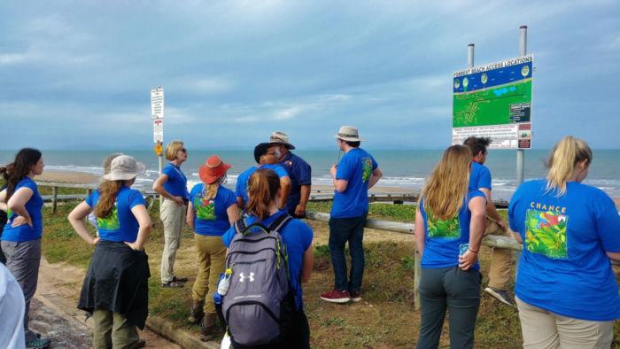 The Australian CHANCE team preparing to do beach clean-up.