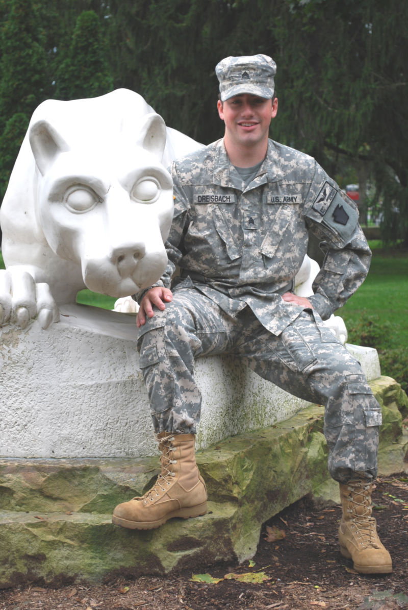 Eric Dreisbach, army veteran and administration of justice major