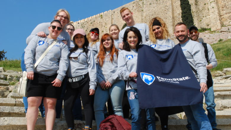 Schuylkill students visit the Theatre of Dionysus