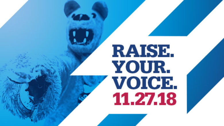 Penn State Schuylkill asks you to raise your voice this #GivingTuesday.