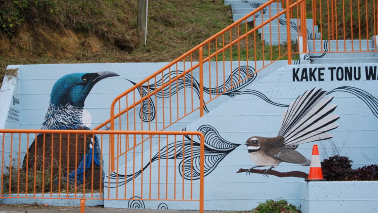 New Zealand features all sorts of wildlife, including myriad birds to whom this mural artist paid homage.
