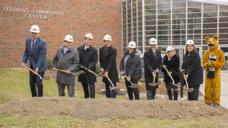 Penn State Schuylkill Student Community Center addition and renovation groundbreaking ceremony