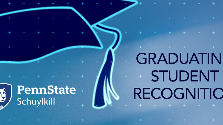A mortarboard graphic announcing the Graduating Student Recognition ceremony.