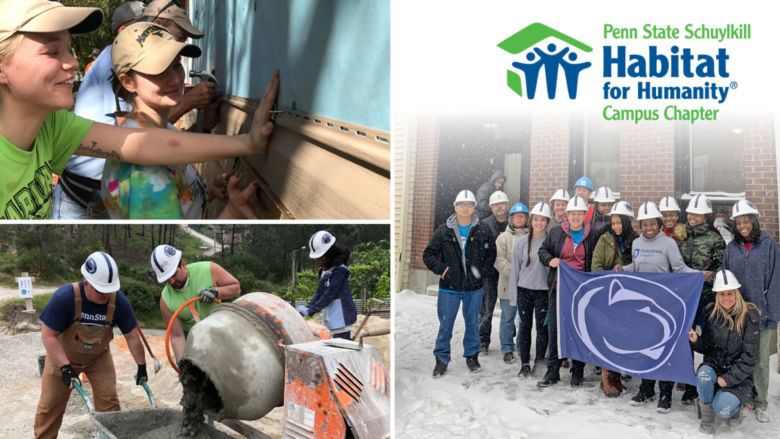 Students participate in various Habitat for Humanity builds