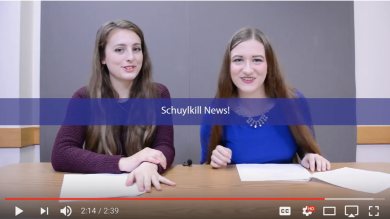 Amanda and Kaila sign off from the first episode of Schuylkill News.