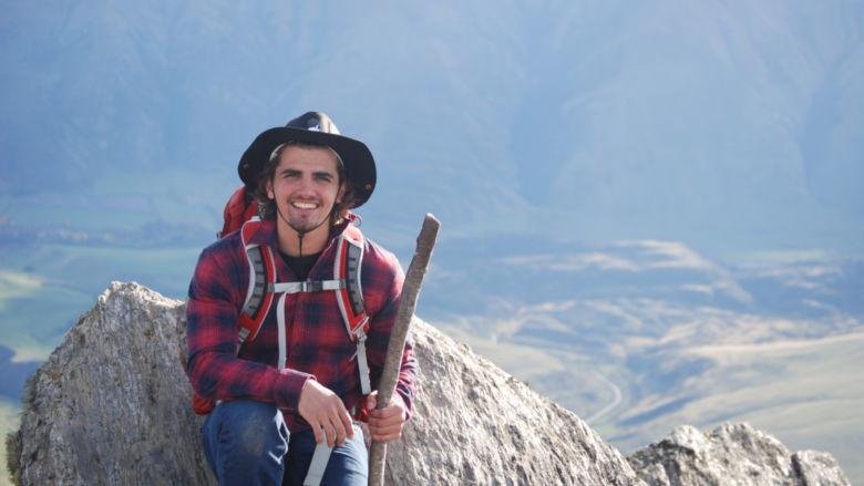 Nico Granito studies abroad in New Zealand.