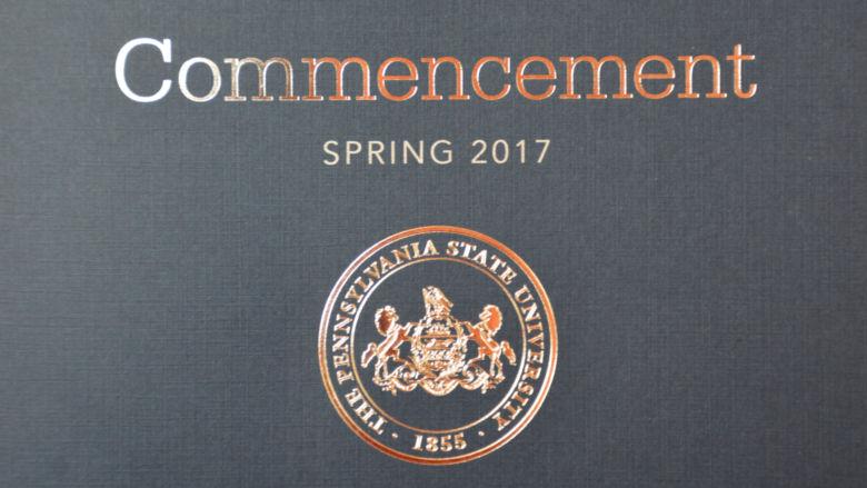 Penn State Schuylkill's spring 2017 commencement program.