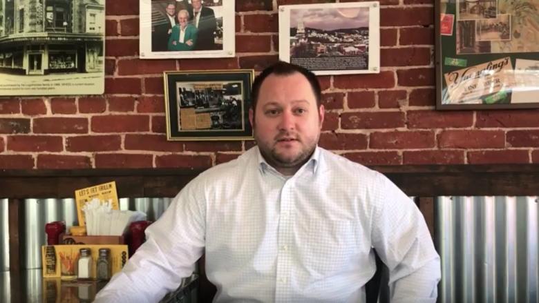 Savas Logothetides offers entrepreneurial tips in Wheel, his Pottsville restaurant.