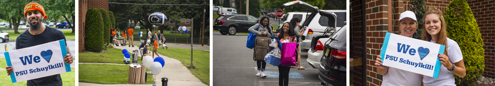 Images from Move-In Day during Schuylkill's Welcome Weekend.